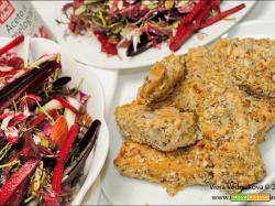 Bastoncini di Tofu al forno e insalata rossa