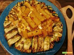 Timballo di maccheroni con zucchine grigliate