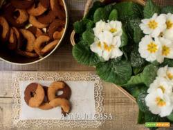 Abbracci di frolla panna e cacao