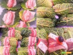 Involtini di verza con fontina e mortadella