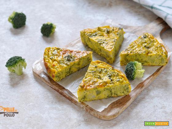 Frittata con broccoletti cotta al forno