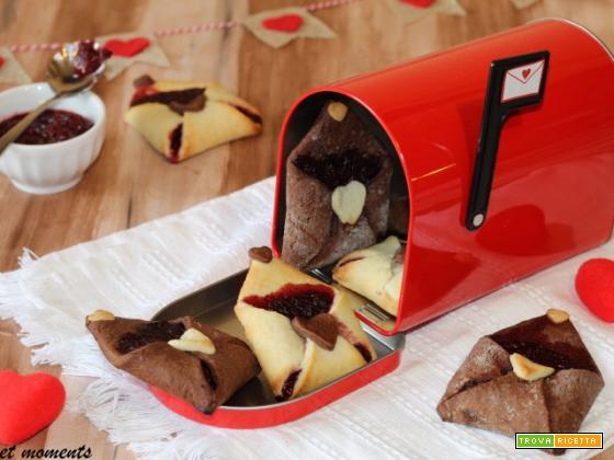 Biscotti lettera d'amore con marmellata
