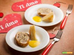San Valentino: faraona farcita alle castagne con millefoglie di patate