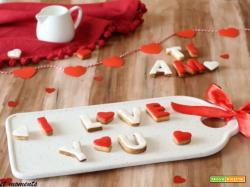Biscotti messaggio d'amore