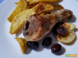 Cosce di pollo al limone con olive greche
