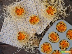 Cestini salati con cuore di zucca al timo