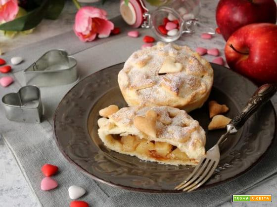 Tortine alle mele e cannella? Ideali per San Valentino!