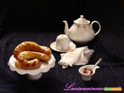 Brioche yogurt greco e marmellata