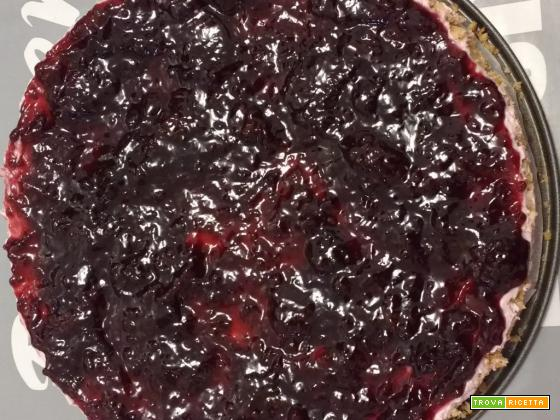 Cheesecake stracciatella e amarene