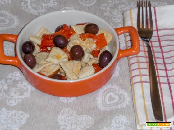 Straccetti di pollo con peperoni