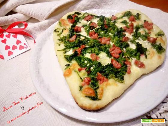 Pizza senza glutine a cuore
