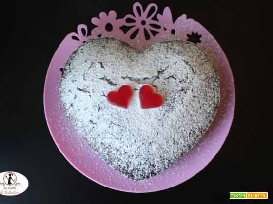 Cuore di albumi al cacao, torta semplice per la merenda
