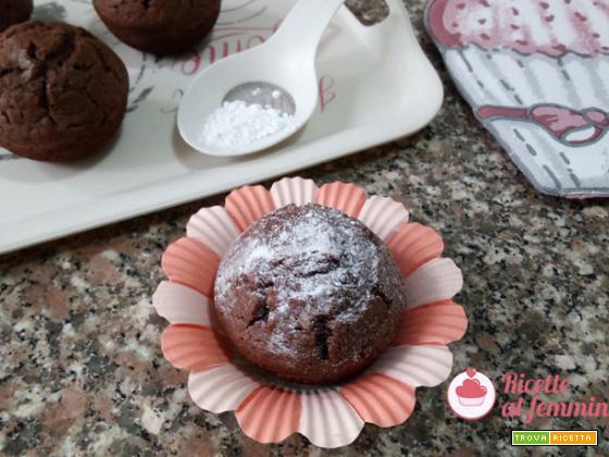 Muffin al cioccolato e latte condensato