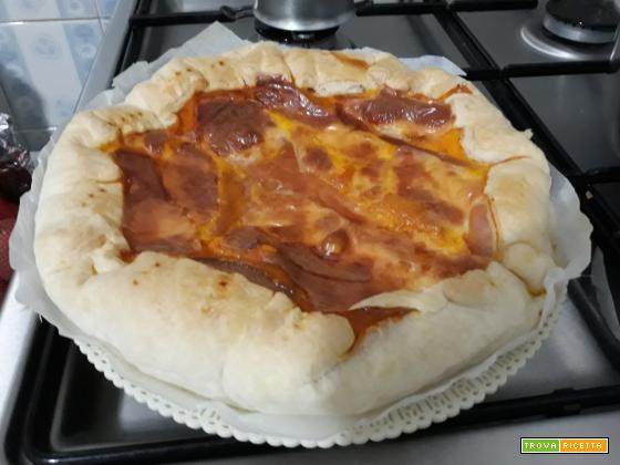 Torta salata: Uova e prosciutto