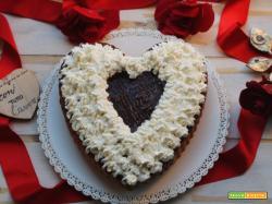 Cuore al cioccolato e panna