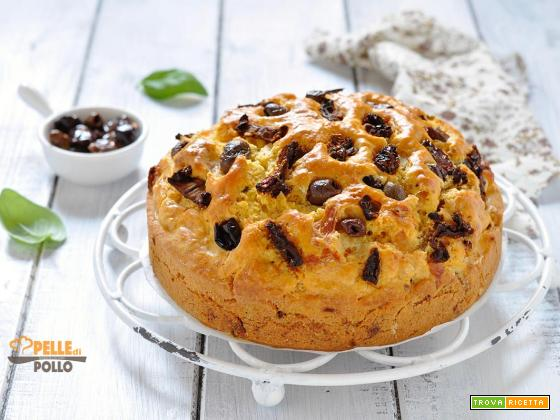 Torta rustica soffice al tonno e pomodori secchi