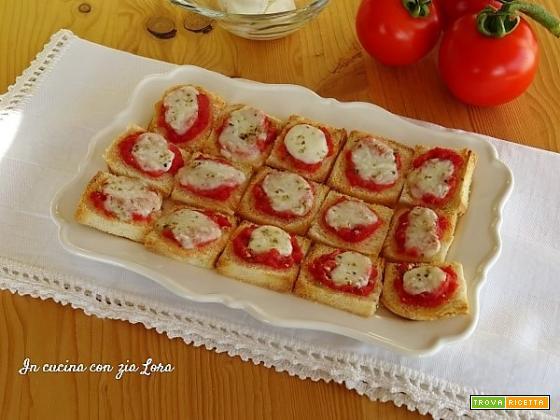 Pizzette di pancarrè veloci