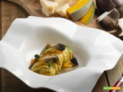 Tagliatelle di ceci con funghi e carciofi : stagionalità a tavola