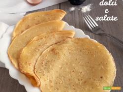 RICETTA BASE per CRESPELLE dolci e salate