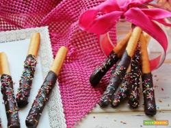 Grissini glassati al cioccolato