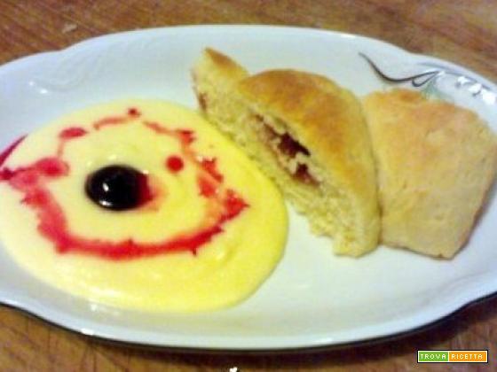 Pan brioche con crema alla vaniglia