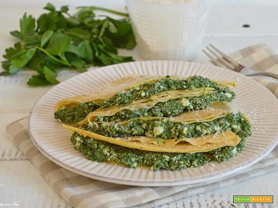 Crespelle (crepes) ricotta e spinaci