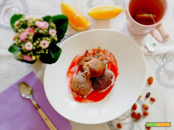 Vegan Frittelle di Carnevale con succo di Arancia