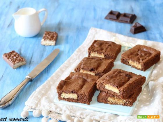 Brownies al cioccolato con wafer