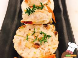 Coniglio al pistacchio e cremoso di sedano rapa