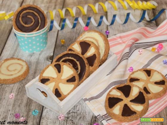 Biscotti bicolore di Carnevale