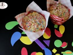 Muffin al doppio cioccolato di Carnevale
