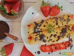 Crepes (crespelle) alle fragole e crema di mascarpone