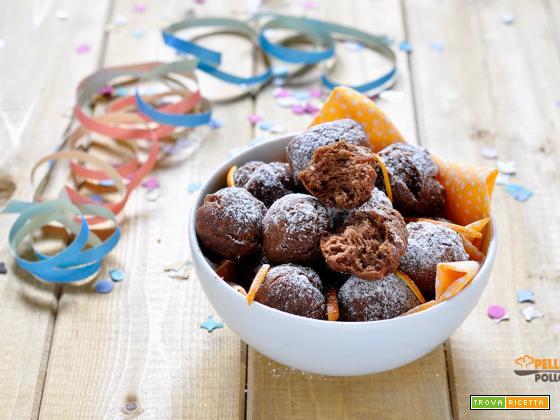 Castagnole al cacao semplici e morbidissime