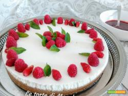 Cheesecake vegana con frutti di bosco