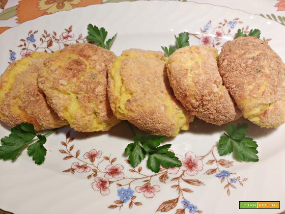 Polpette di patate e zucca con formaggio