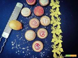 Mini muffins con farina di riso al limone