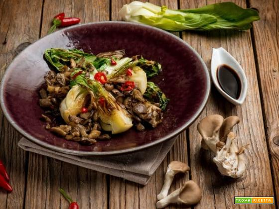 Pak choi con funghi: un sapore proveniente dall'oriente