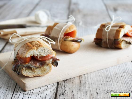 Sandwich speck e melanzana