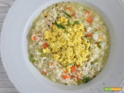 Risotto al limone e mimosa d'uovo