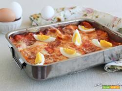 Lasagne al salame e uova sode