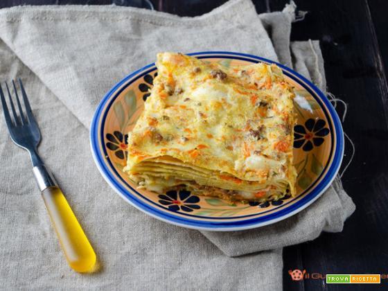 Lasagne integrali alla zucca con ragù bianco di carne