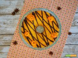 Cake all'arancia con decorazione al cioccolato