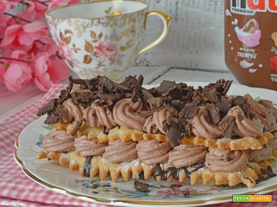 Torta millefoglie nutella e mascarpone facile e veloce