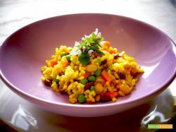 Paella veg speziata con Garam Masala