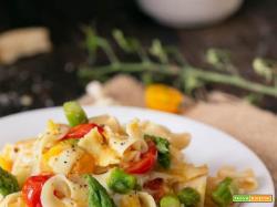 Tagliatelle asparagi pomodorini e provola: è primavera nel piatto!