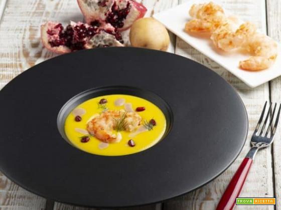 Spuma di patate con gamberi croccanti: un piatto per celebrare la Festa del papà