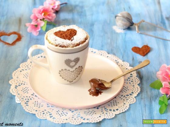 Torta in tazza vaniglia e nutella