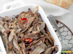 "Funghi Pleurotus ""arruscati"" in forno"