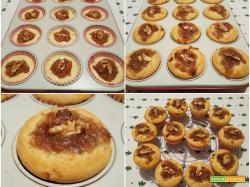 Muffin con marmellata di pere e noci