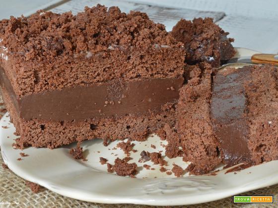 Torta al cioccolato e nutella: impasto facile senza uova ne burro